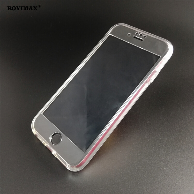 Crystal clear TPU+PC mobile phone case full protection cover-360N03  2
