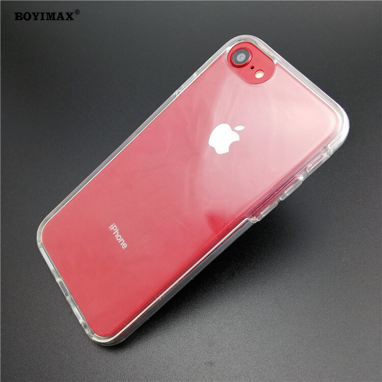 Crystal clear TPU+PC mobile phone case full protection cover-360N03  3