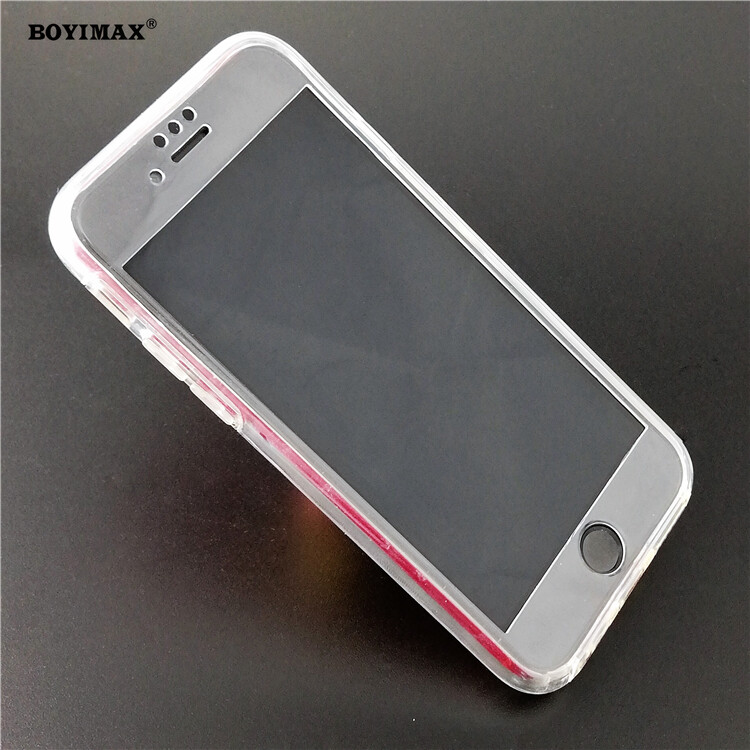 Crystal clear TPU+PC mobile phone case full protection cover-360N03  4