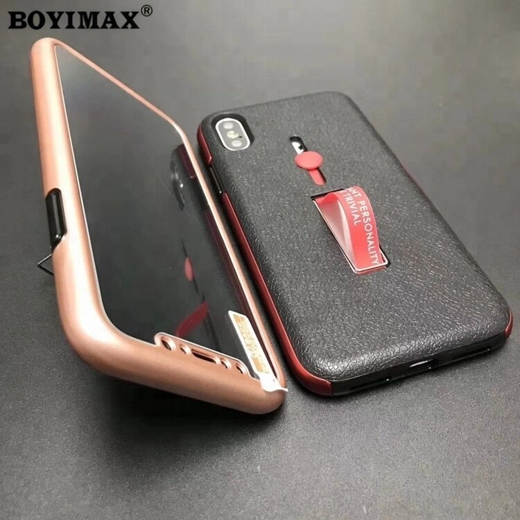 Mobile phone case TPU+PC with holder full protection cover supplier-360N07 2