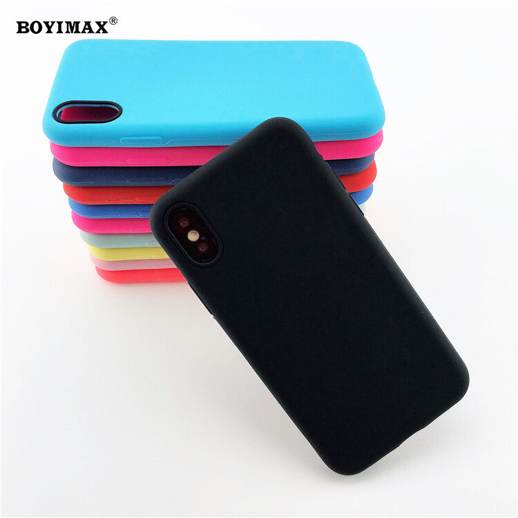 Mobile phone case liquid silicone pure color cover manufactory supplier -LS07 4