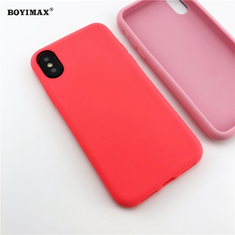 Mobile phone case liquid silicone pure color cover manufactory supplier -LS07 11