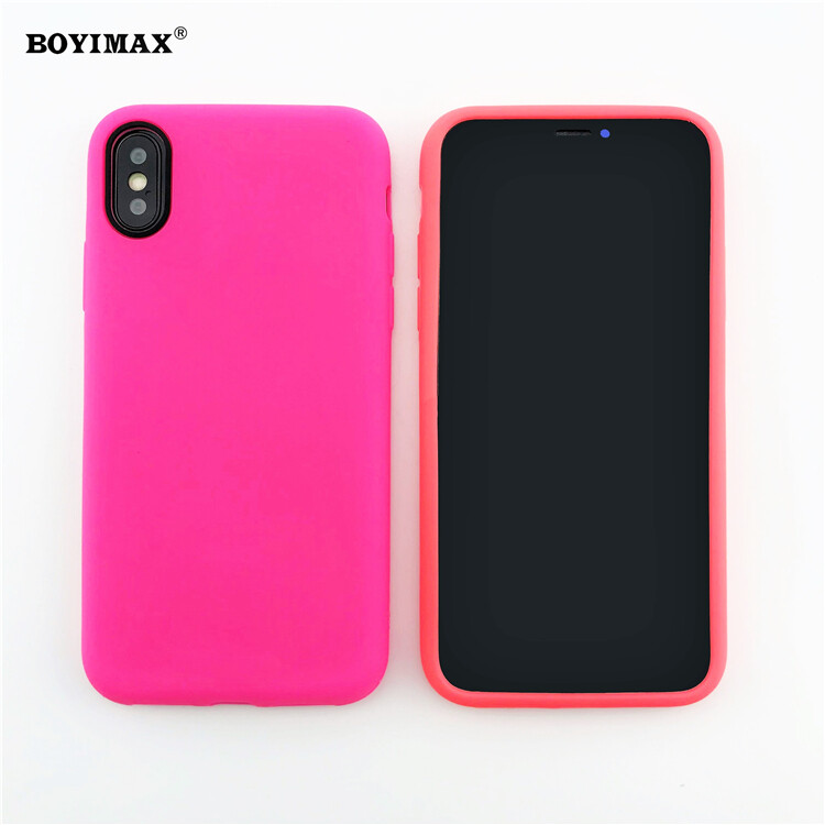 Mobile phone case liquid silicone pure color cover manufactory supplier -LS07 14