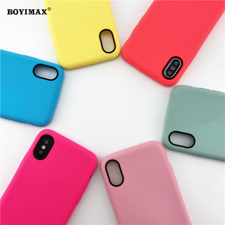 Mobile phone case liquid silicone pure color cover manufactory supplier -LS07 2