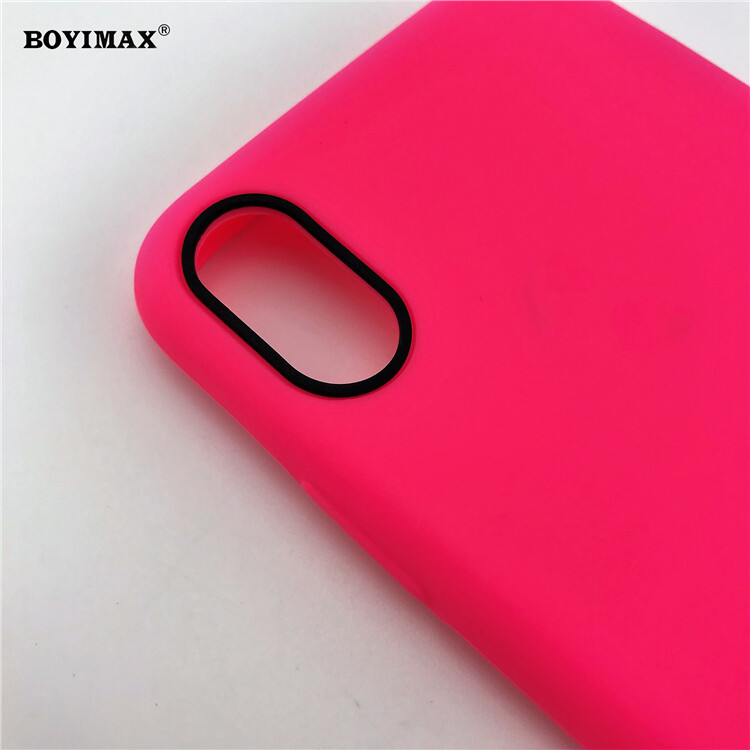 Mobile phone case liquid silicone pure color cover manufactory supplier -LS07 16