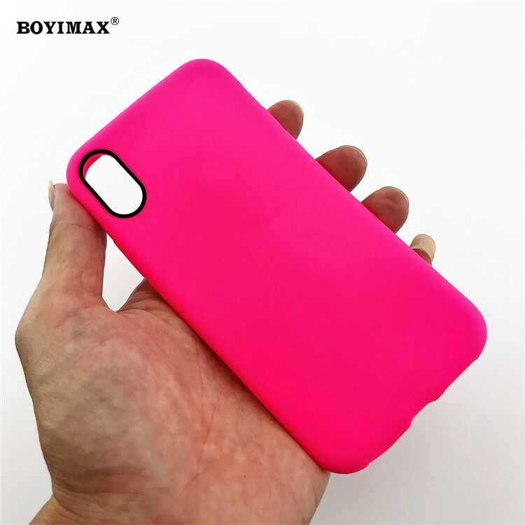 Mobile phone case liquid silicone pure color cover manufactory supplier -LS07 19
