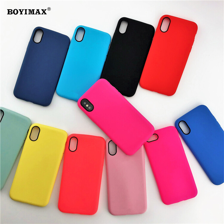 Mobile phone case liquid silicone pure color cover manufactory supplier -LS07 1