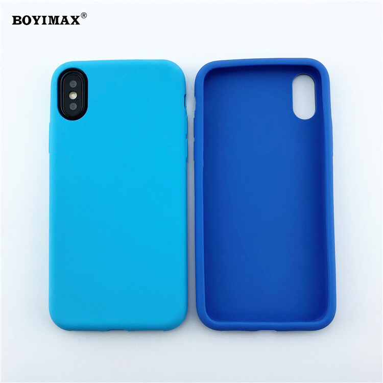 Mobile phone case liquid silicone pure color cover manufactory supplier -LS07 15