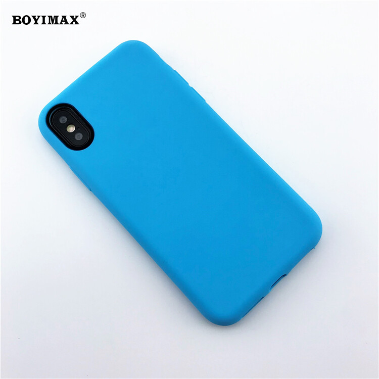 Mobile phone case liquid silicone pure color cover manufactory supplier -LS07 5