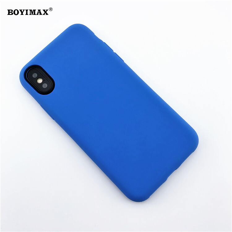 Mobile phone case liquid silicone pure color cover manufactory supplier -LS07 6
