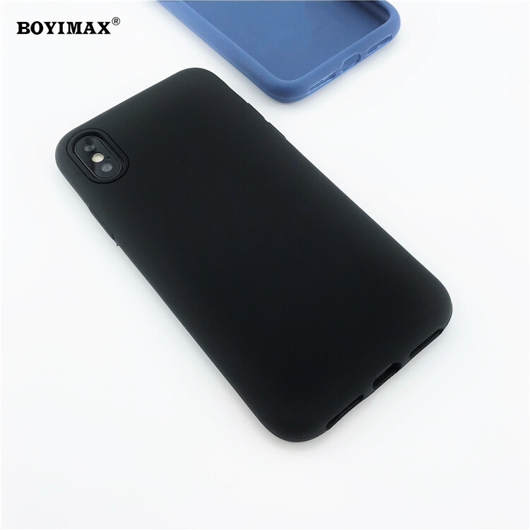 Mobile phone case liquid silicone pure color cover manufactory supplier -LS07 7