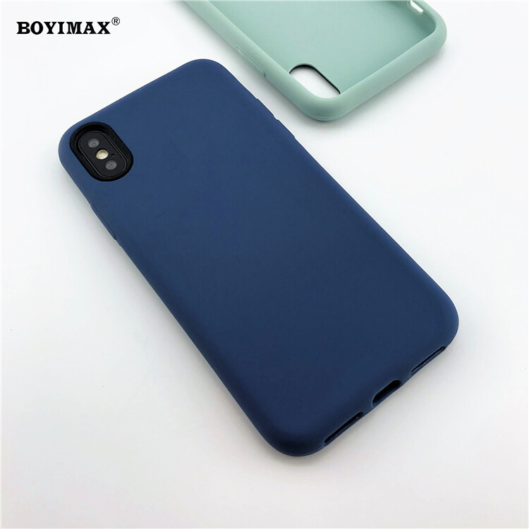 Mobile phone case liquid silicone pure color cover manufactory supplier -LS07 8