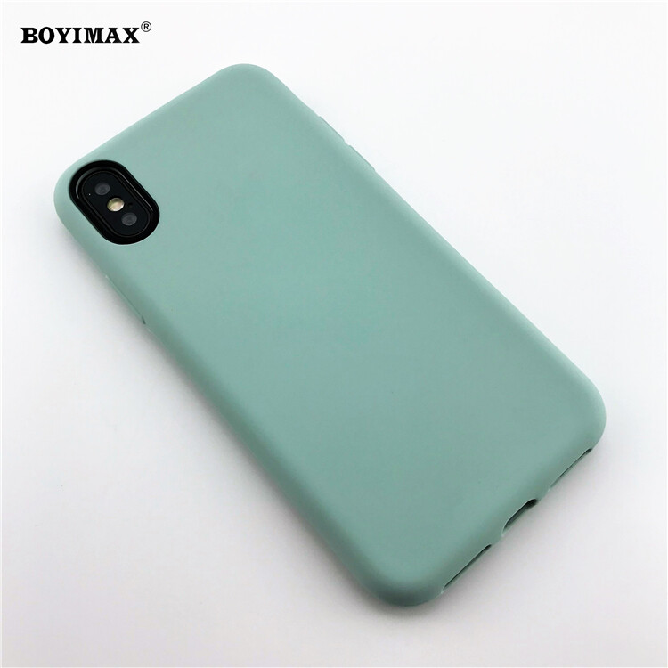 Mobile phone case liquid silicone pure color cover manufactory supplier -LS07 9