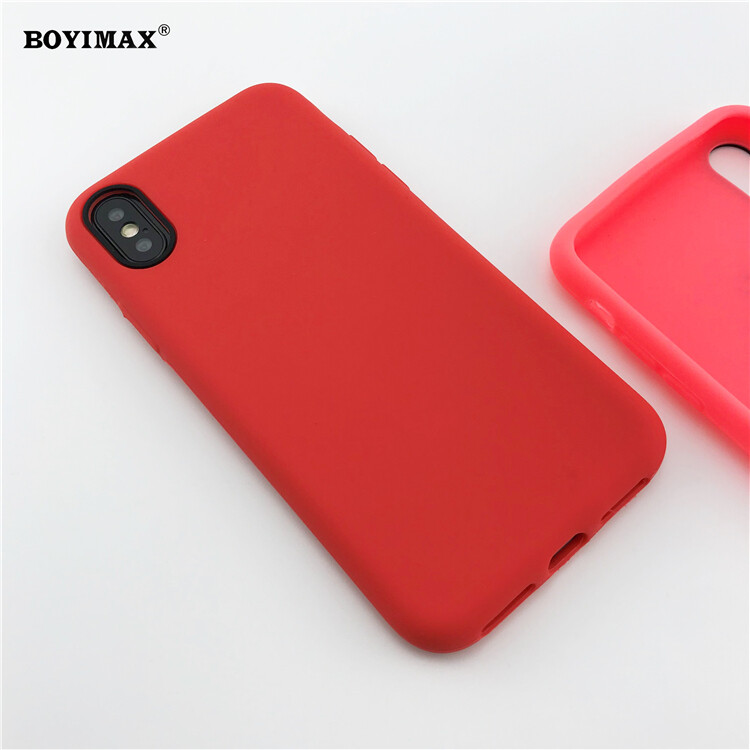 Mobile phone case liquid silicone pure color cover manufactory supplier -LS07 10