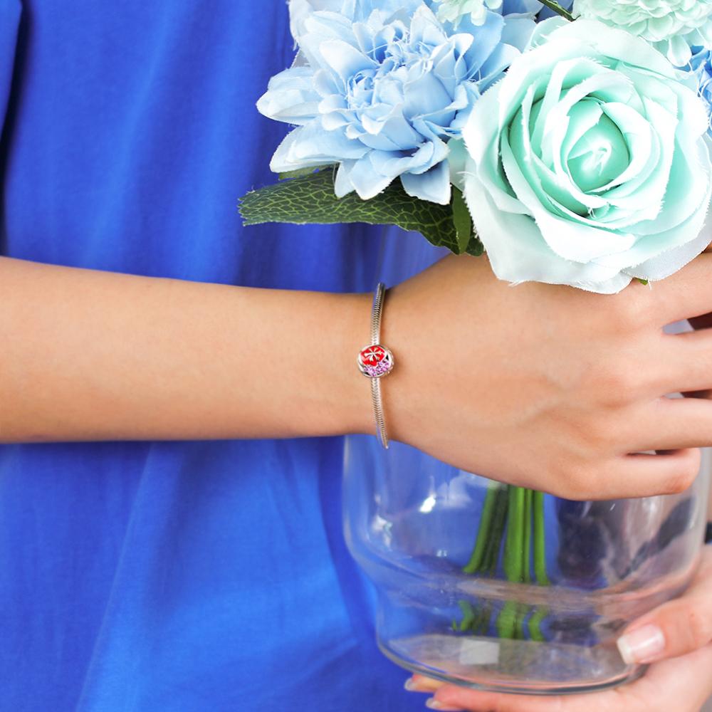 FAMHI 100% 925 Sterling Silver 1:1 Original Authentic Classic Merry Christmas Retro Elegant Women Bead Wedding Jewelry 5