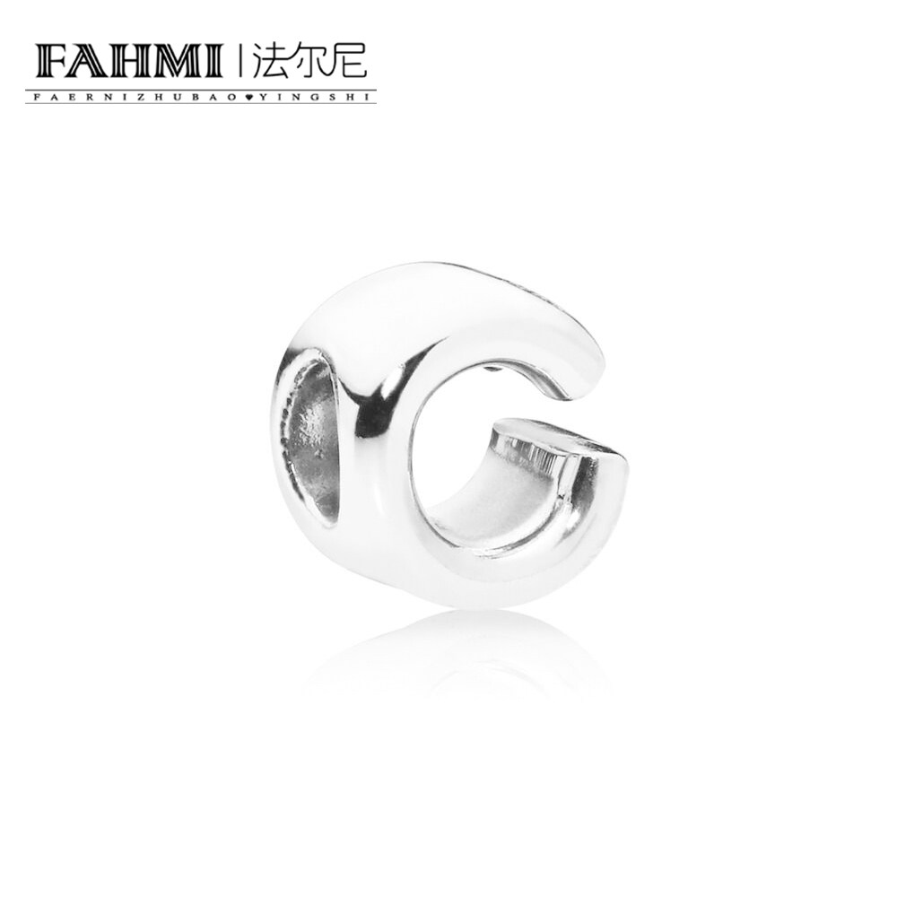 FAHMI 100% 925 Sterling Silver Original 1:1 797457 LETTER C CHARM Fashion Simple Women's Jewelry Christmas Gift Recommended 0