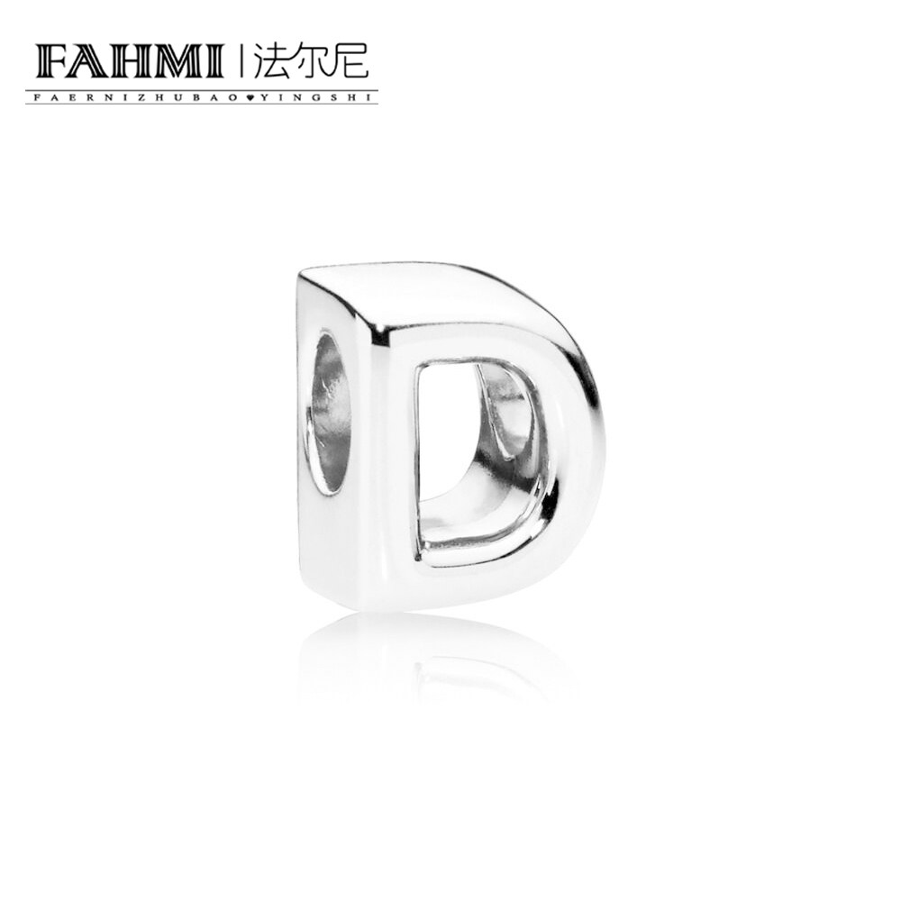 FAHMI 100% 925 Sterling Silver Original 1:1 797458 LETTER D CHARM  Fashion Simple Women's Jewelry Christmas Gift Recommended 0
