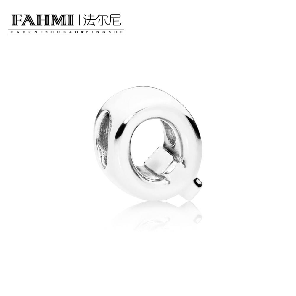 FAHMI 100% 925 Sterling Silver Original 1:1 797471 LETTER Q CHARM   CHARM Fashion Simple Women's Jewelry Christmas Gift 0