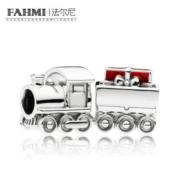 FAHMI 100% 925 Sterling Silver New 797519EN27 Christmas Train Charm Original Women's Jewelry Charming Gift Brand Direct Sales 0