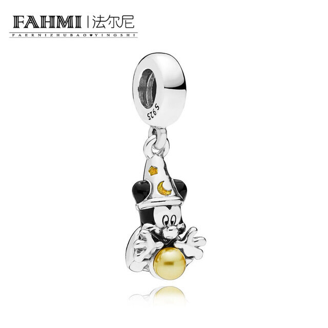 FAHMI 100% 925 Sterling Silver 797493ENMX Sorcerer Hanging Charm Original Women's Jewelry Suitable for Christmas Gift 0