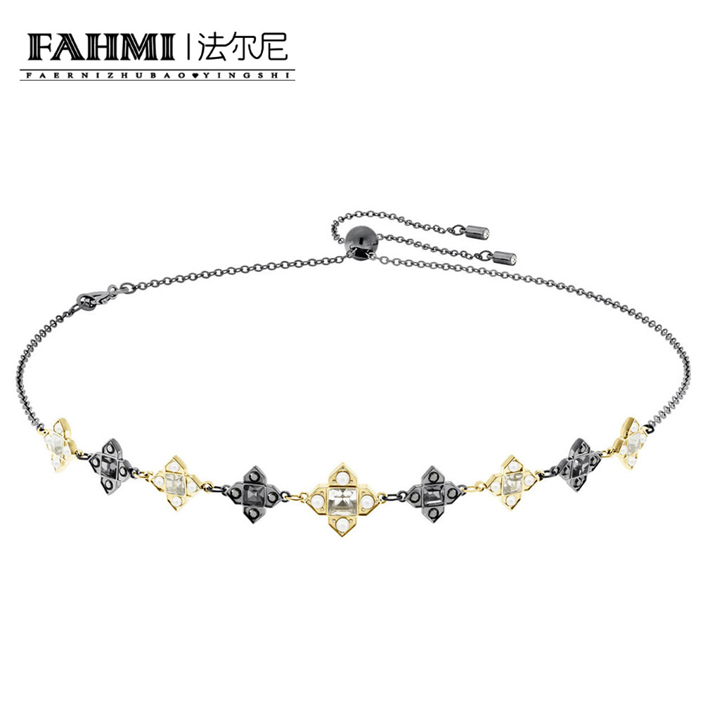 FAHMI MILLENNIUM CHOKER Has A Row of Mixed Colors, Cut and Coated Star Patterns Inspired By Antique Jewelry, This Gorgeous Piece Will Be A Great Gift 0