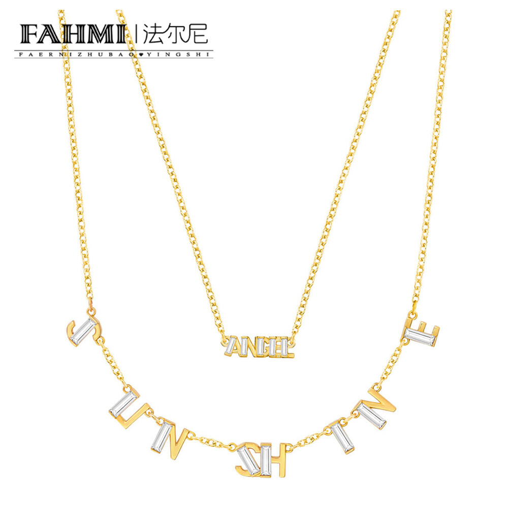 FAHMI ADMIRATION SUNSHINE Necklace Set The Crystal-inspired Design Is Not Only Elegant and Versatile, It Is Suitable for Everyday Wear, and Can Also Be Used As A Gift for Chinese Valentine's Day. 0