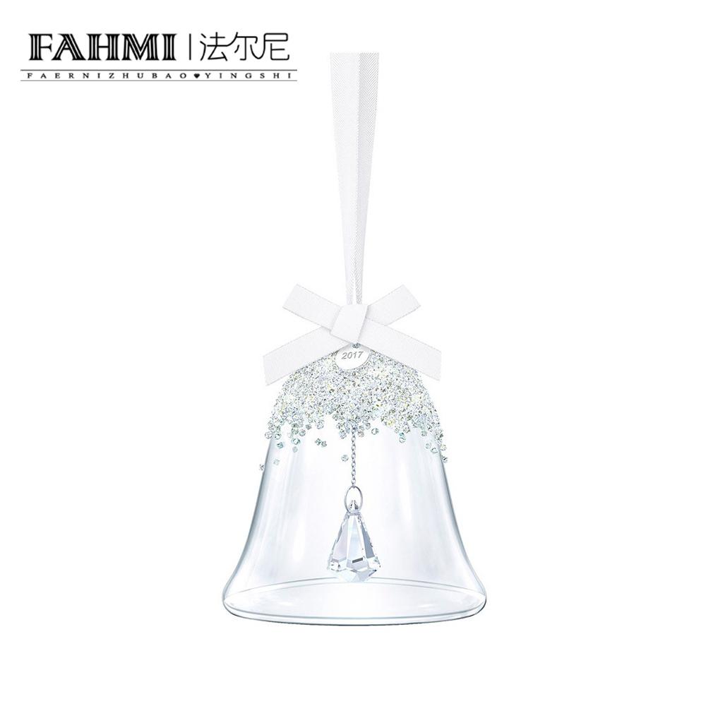 FAHMI CHRISTMAS BELL Car Clear Crystal Christmas Bell Zirconium Pendant 5241593 0