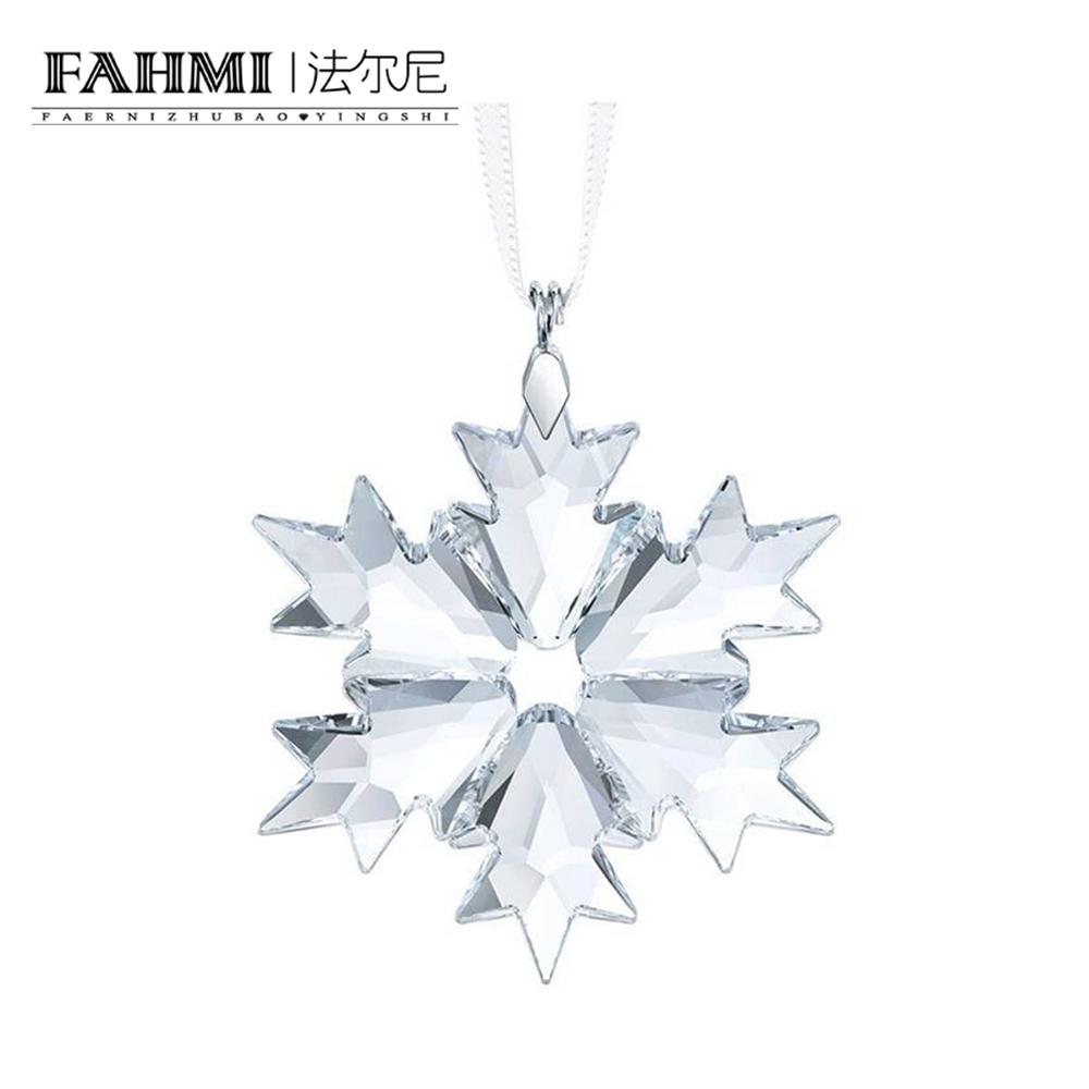 FAHMI LITTLE SNOWFLAKE Beautiful Transparent Romantic Elegant Christmas Snowflake Pendant Charm 5349843 0
