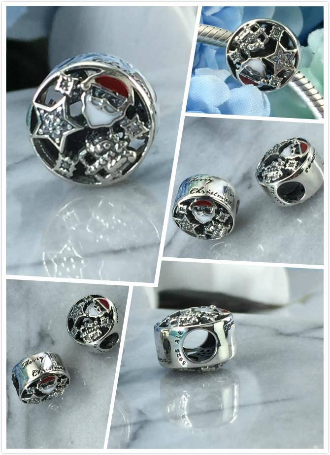 FAHMI 100% 925 Sterling Silver 1:1 Authentic 796364CZ CHRISTMAS JOY CHARM Bracelet  Original  Women  Jewelry 0