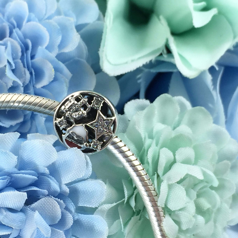 FAHMI 100% 925 Sterling Silver 1:1 Authentic 796364CZ CHRISTMAS JOY CHARM Bracelet  Original  Women  Jewelry 1