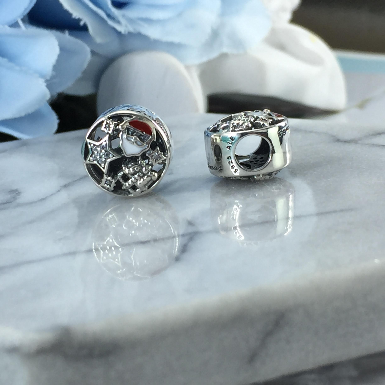 FAHMI 100% 925 Sterling Silver 1:1 Authentic 796364CZ CHRISTMAS JOY CHARM Bracelet  Original  Women  Jewelry 3
