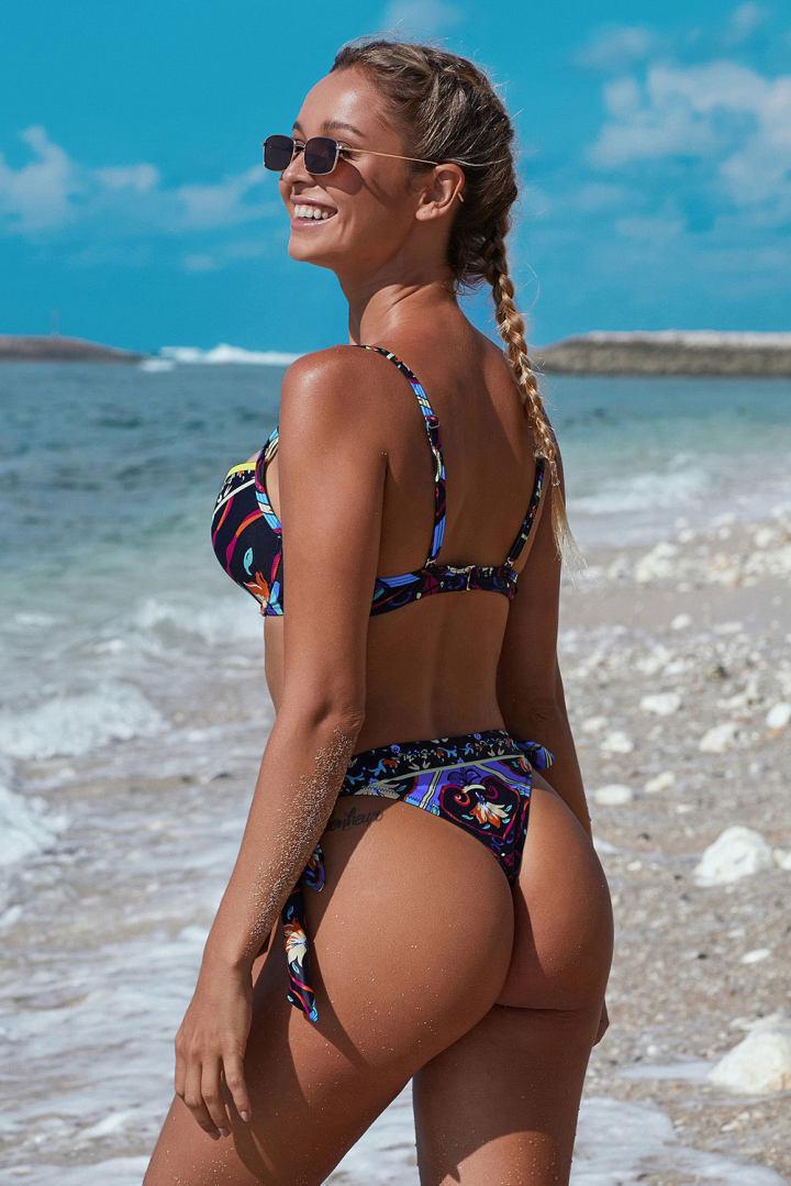 Peachwork Sexy Snake Print Bikini set High waist Swimwear Women Hollow out Swimsuit Female Brazilian Bikini Bathers bathing suit