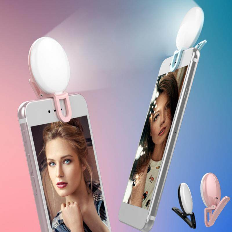 Portable Selfie Flash Led Camera Clip-on Mobile phone Selfie ring light video light Night Enhancing Fill Light 1