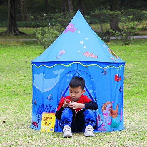 homfu pop up tent for kids toy playhouse castle princess. Black Bedroom Furniture Sets. Home Design Ideas