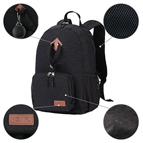 Homfu 30L Foldable Backpack For Travel Packable Daypack For Hiking Camping Waterproof Lightweight Bag Black  18