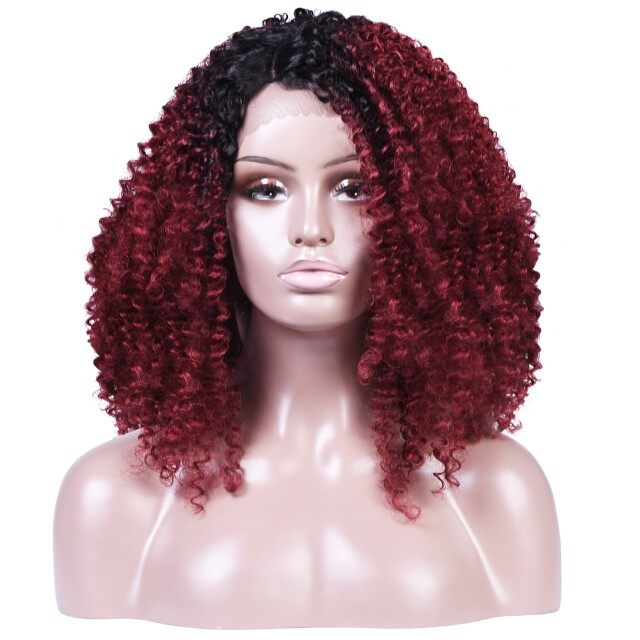 af0aa914d Best Human hair full lace african braided heat resistant synthetic lace  front wig burgundy synthetic wig at shop