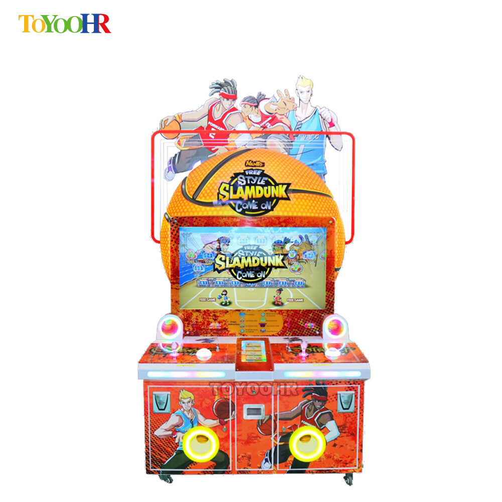 Coin Operated Indoor Amusement Kiddie Redemption Basketball Shooting Video Game Machine 0