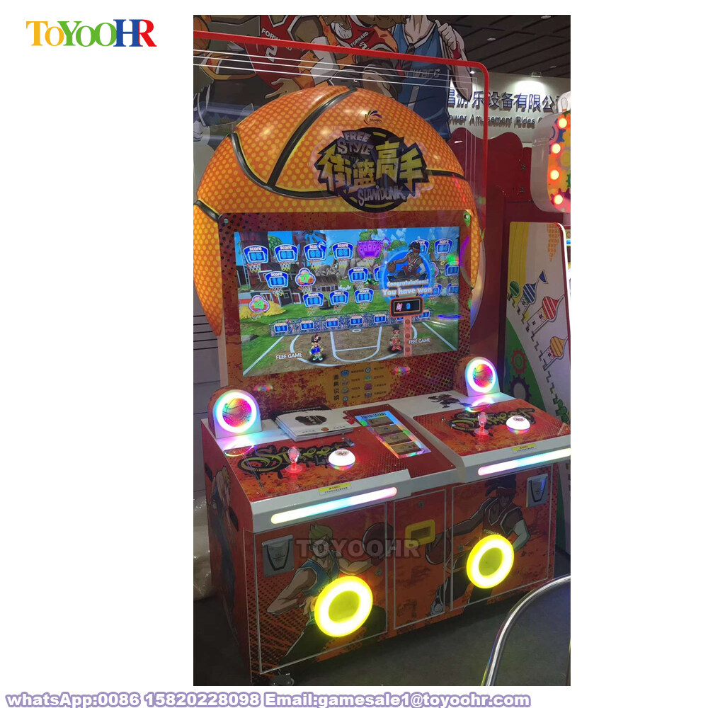 Coin Operated Indoor Amusement Kiddie Redemption Basketball Shooting Video Game Machine 3