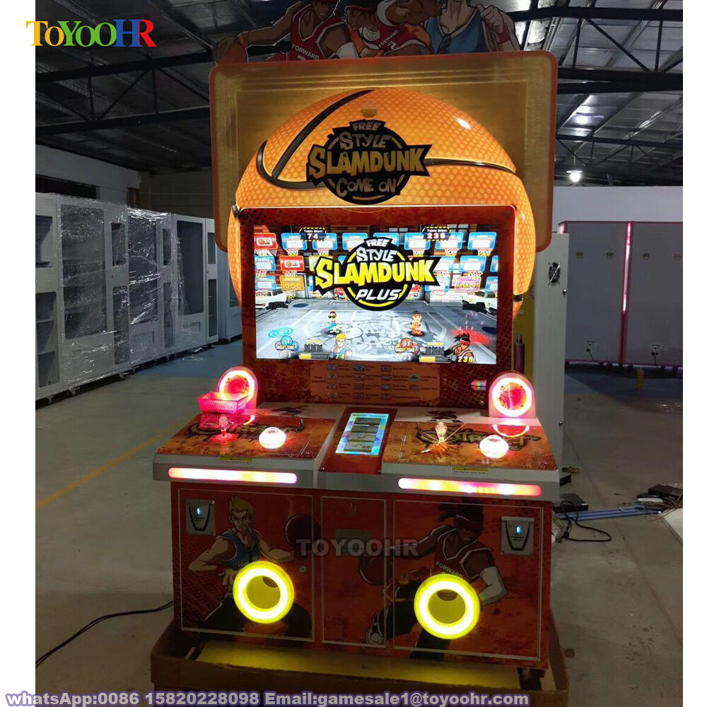Coin Operated Indoor Amusement Kiddie Redemption Basketball Shooting Video Game Machine 4