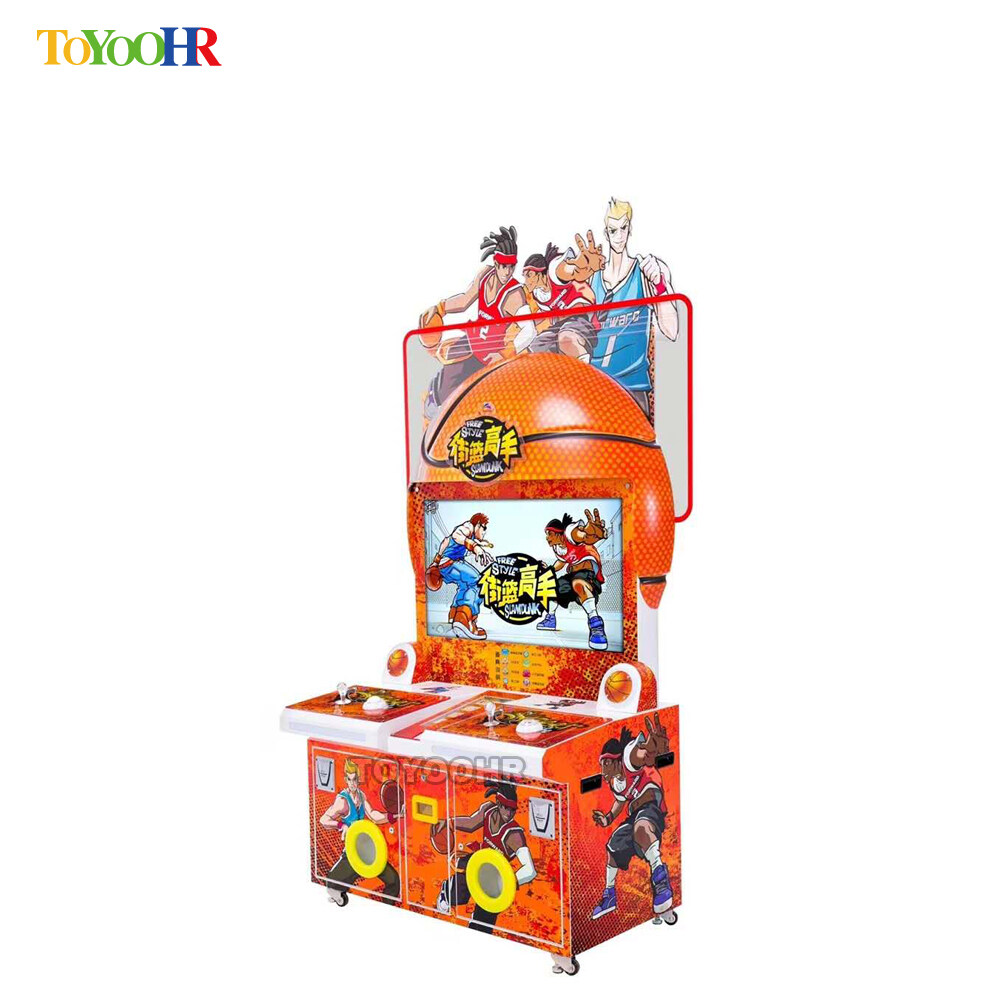 Coin Operated Indoor Amusement Kiddie Redemption Basketball Shooting Video Game Machine 2
