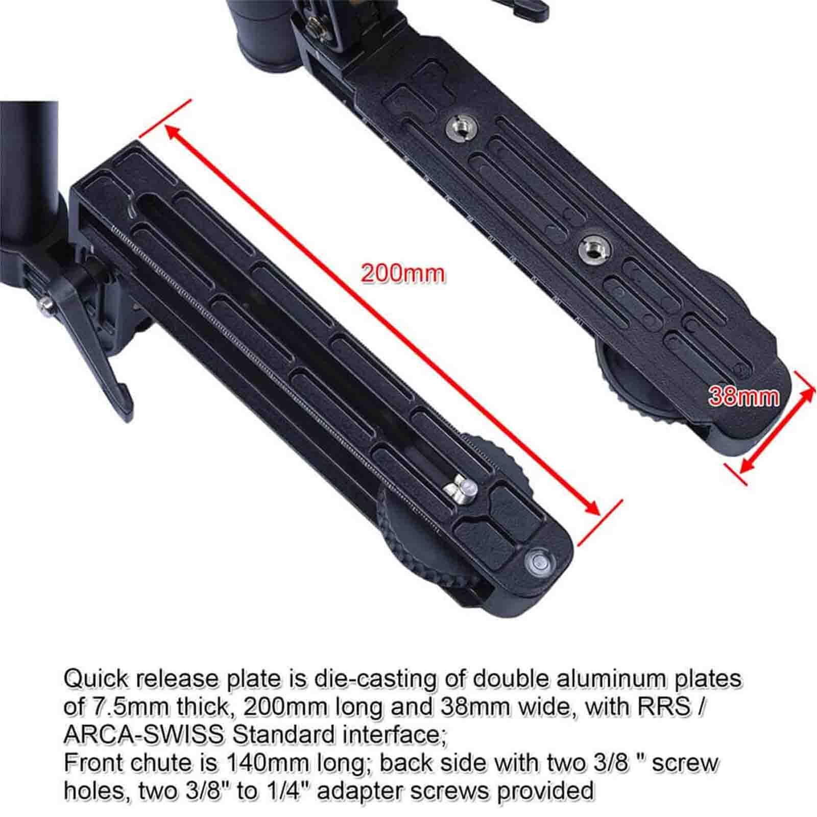 Baosity 400mm Telephoto Lens Quick Release Plate Long-Focus Support for Camera Tripod Ballhead Fits Arca-Swiss
