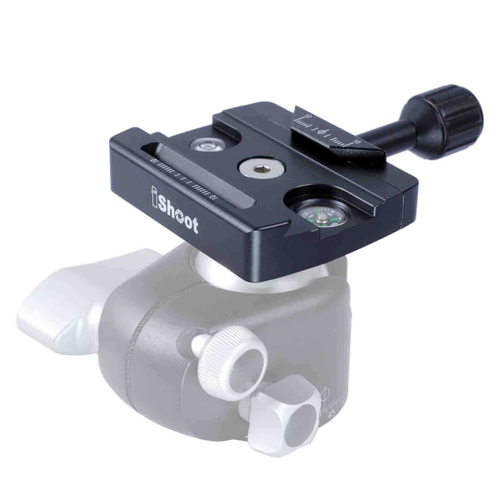 Clamp for Manfrotto 496 Tripod Ball Head 200PL 410PL Camera Quick Release Plate