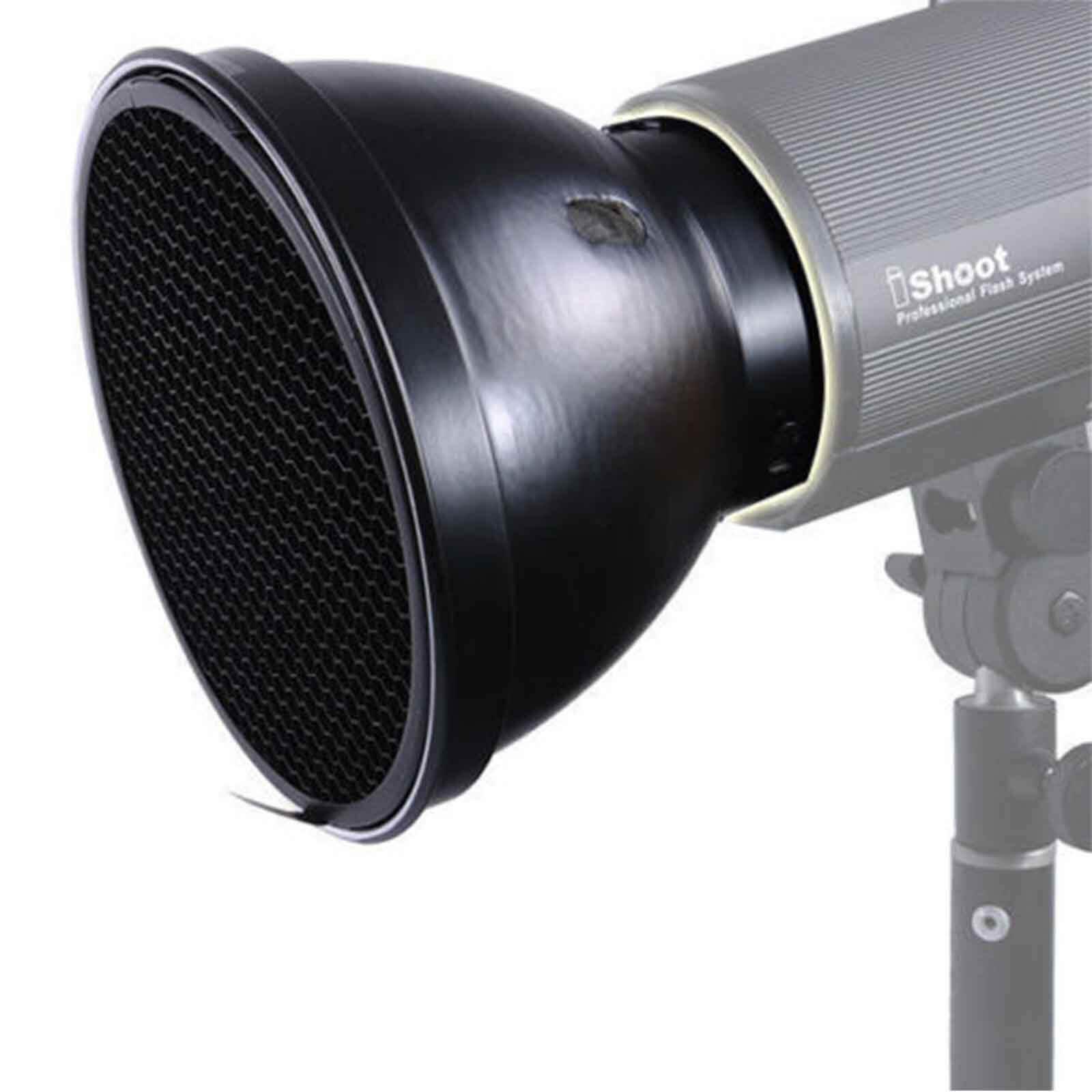 180mm Metal Lamp Shade Softbox+Honeycomb Grid for COMET Mount Studio Flash Light