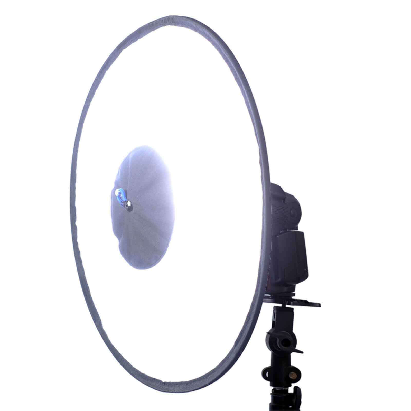44cm Easy-fold Round Flash Softbox Diffuser Reflector for Canon Nikon Speedlite