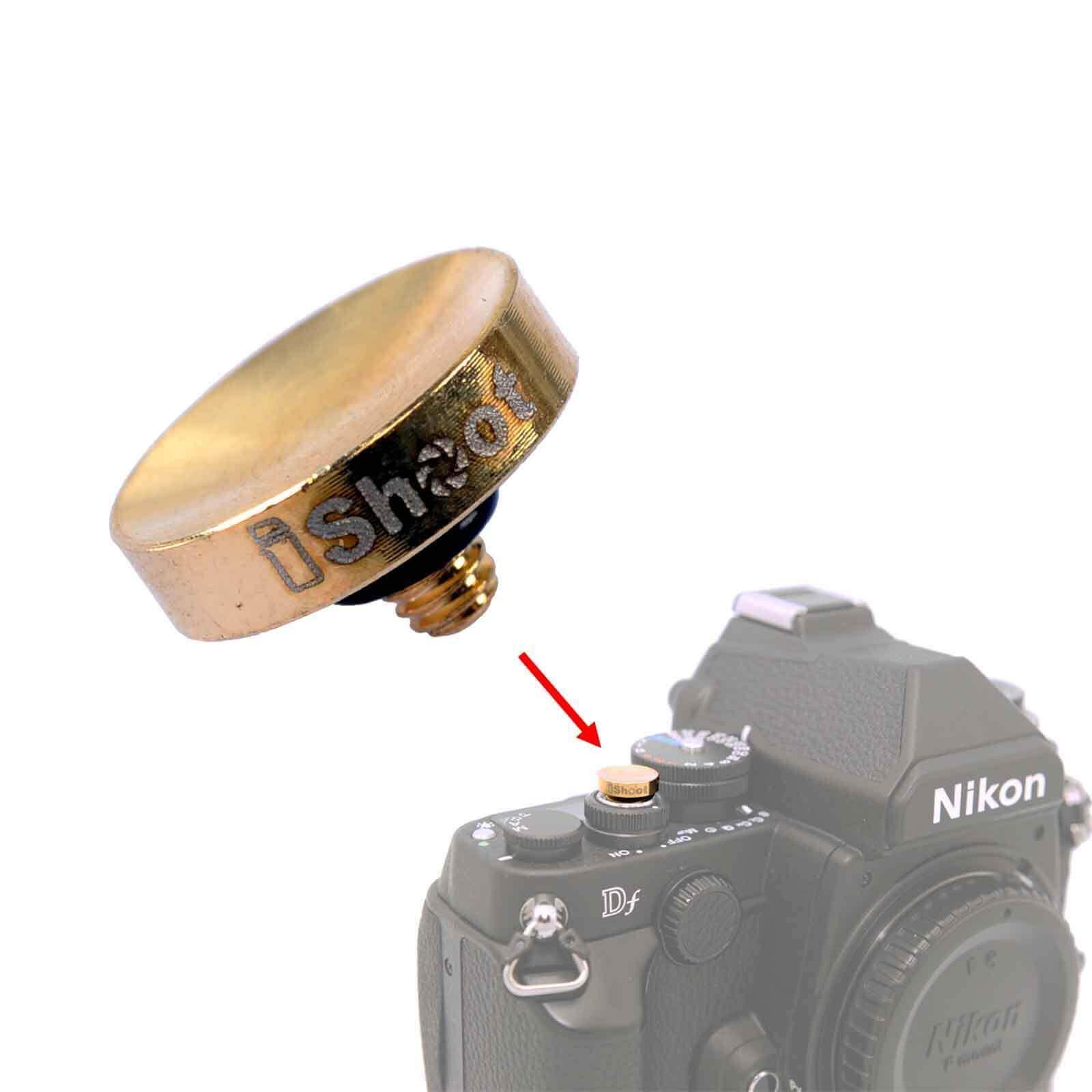 Finely Made Concave Copper Camera Release Shutter Button for Fuji X-E1 X-E2