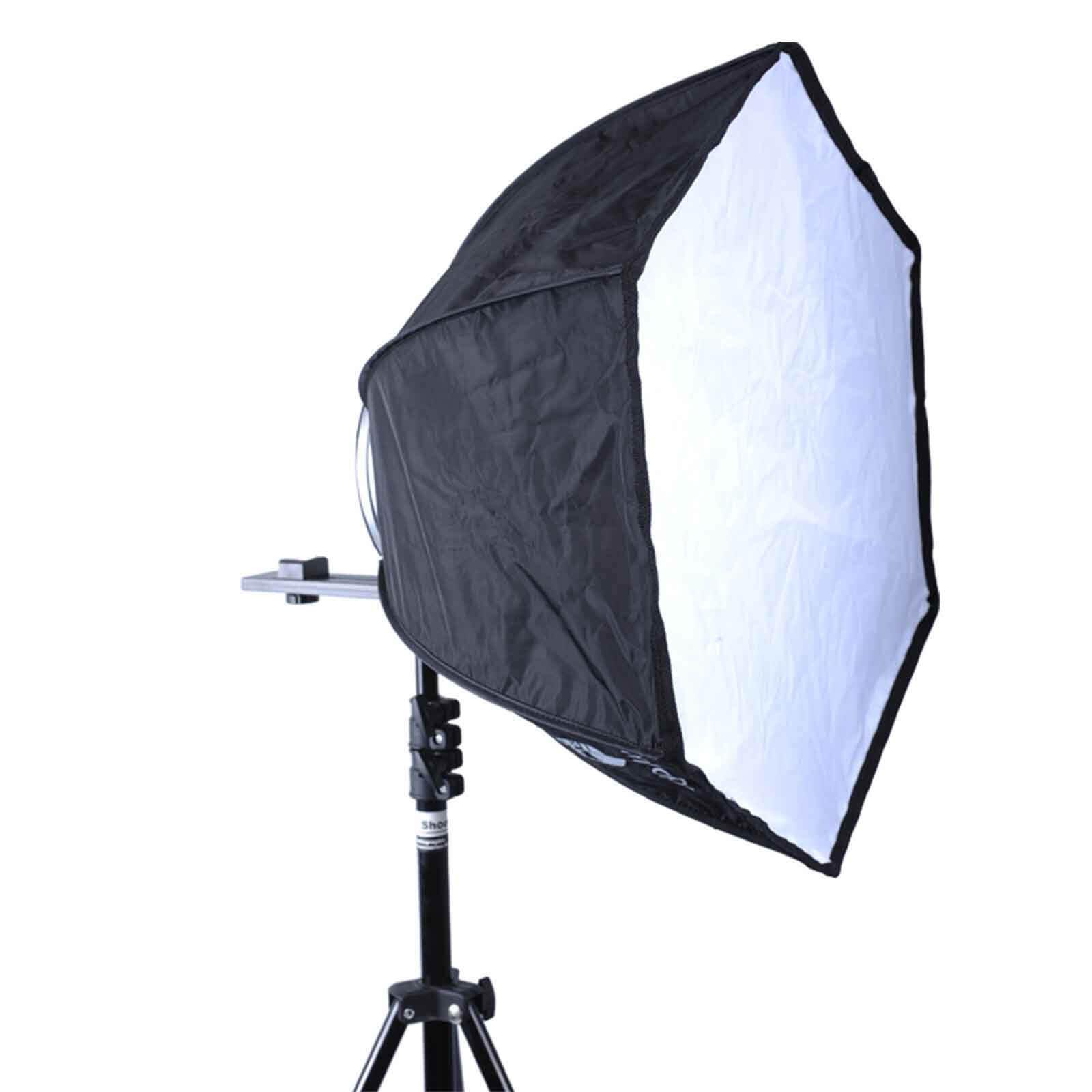 46cm Foldable Speedlite Flash Softbox Diffuser Reflector for Studio Light Stand