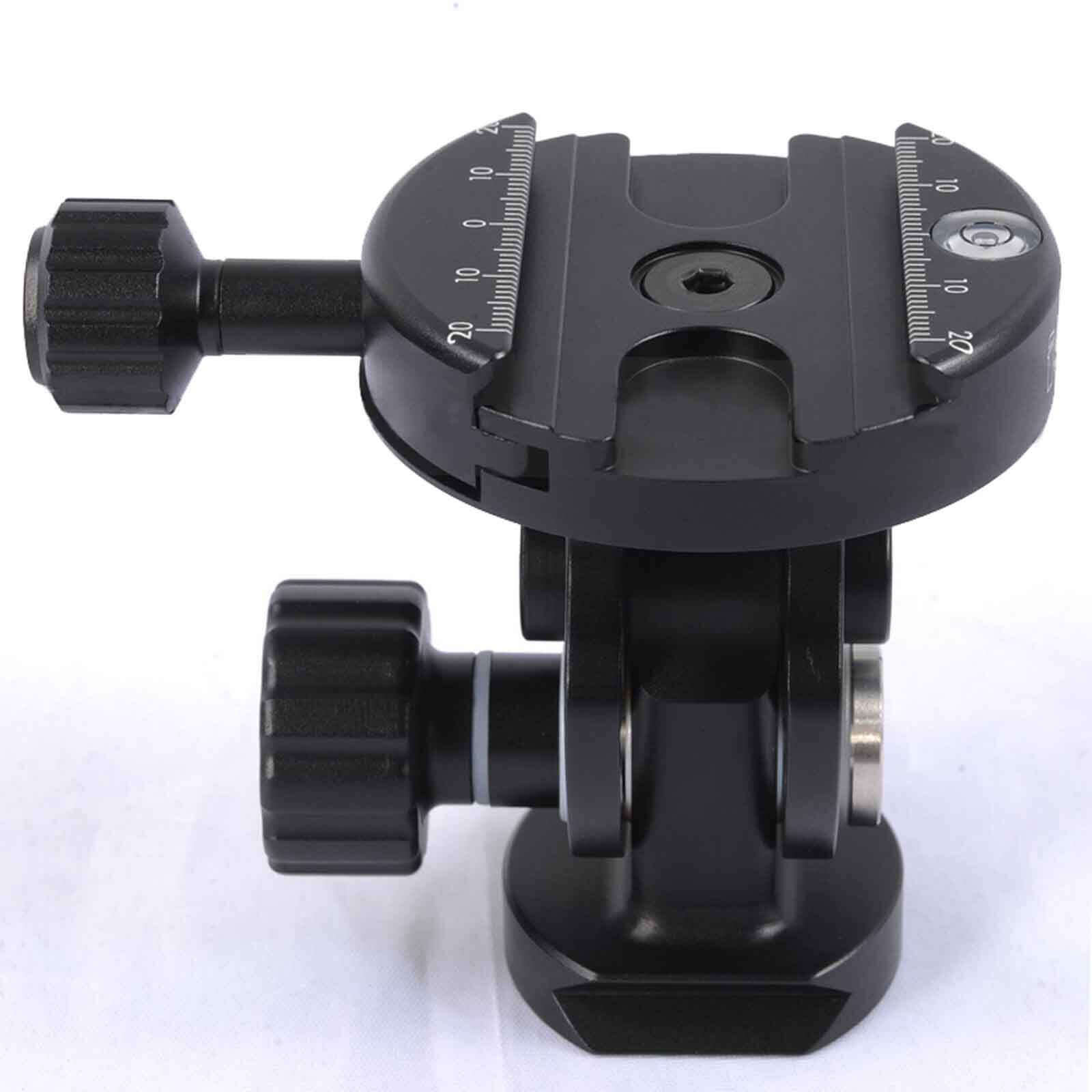 2D Ball Head + Clamp for Camera Tripod Monopod & Quick Release Plate