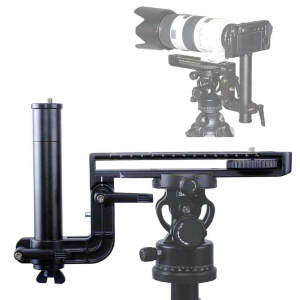 Long-Focus Lens Support + 2D 360° Tripod Head with Panning Clamp