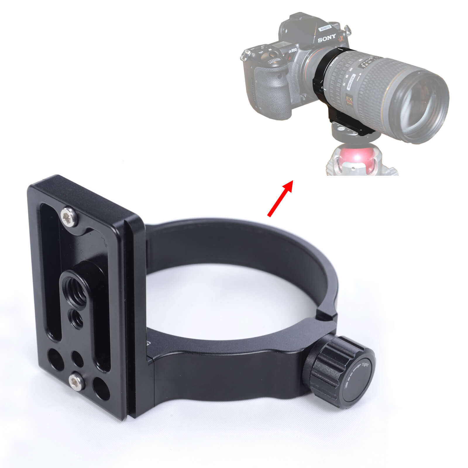 Lens Collar Support Tripod Mount Ring Can Replace TS-21 for Sigma AF MACRO APO 180mm F3.5 EX DG HSM, 180mm F2.8 EX DG OS HSM