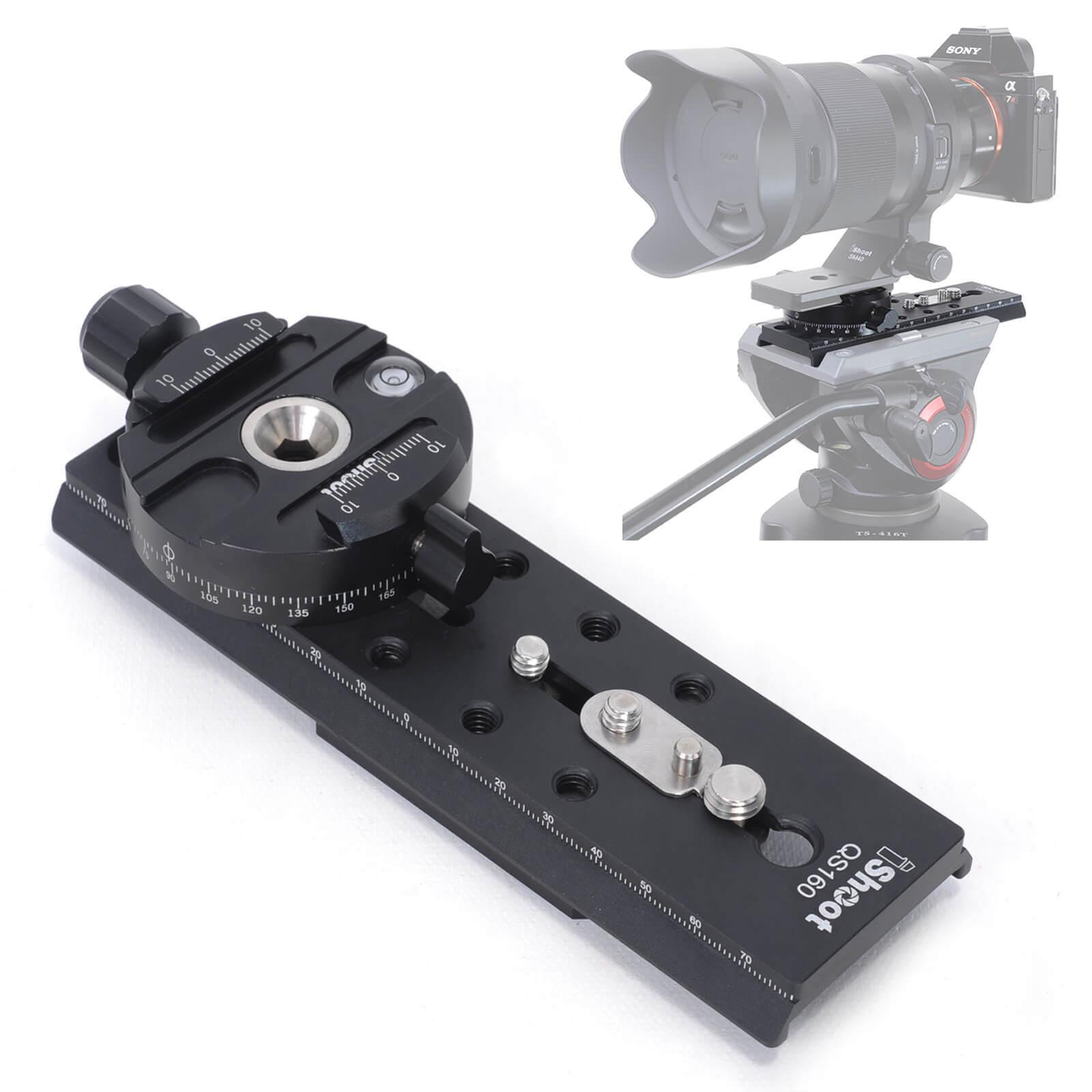 Converter for Arca-Swiss Quick Release Plate to Sachtler Tripod Fluid Video Head